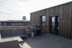 Felles takterrasse på Torp Campus ved Pilot Flight Academy